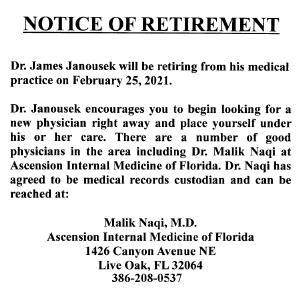 1-26-21_DR_JANOUSEK_RETIREMENT